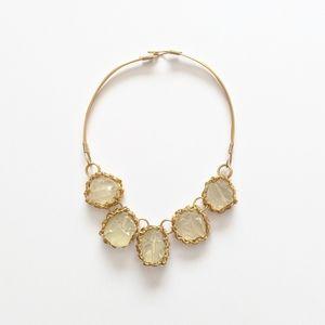 Quartz Crystal & Gold Statement Necklace